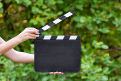 Movie production clapper board Royalty Free Stock Images