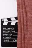 Movie production clapper board Royalty Free Stock Photo