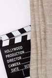 Movie production clapper board Stock Images