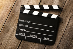 Movie production clapper board Stock Image