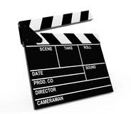 Movie production clapper board. On a white background Stock Photography