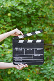 Movie production clapper board Stock Photos