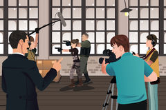 Movie production scene Royalty Free Stock Photo