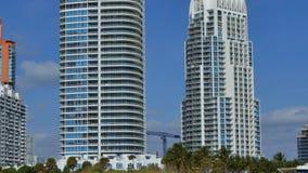 Movie production set Miami Beach. 4k video of a movie production in Miami Beach stock video footage