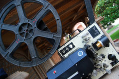 Movie projector. A great movie projector for open-air showing stock photos