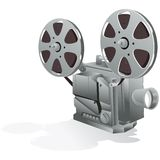 Movie Projector with clipping path stock illustration