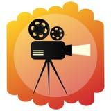 Movie projector icon. Retro cinema and film sign . Bright illustration of cinematography. Movie projector icon. Retro cinema and film sign . A Bright Stock Photos