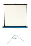 Movie Projector Screen. A vintage movie screen on a white background royalty free stock photos