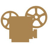 Movie projector symbols Stock Photos