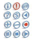 Movie or Radio Player. Icon vector Stock Images