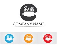 Movie record symbols logo and icons template.  Stock Photography