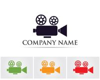 Movie record symbols logo and icons template.  Royalty Free Stock Images
