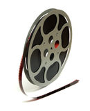 Movie Reel. An shot of a 16mm movie reel for projection playing at theaters royalty free stock image
