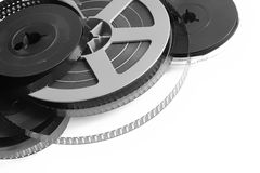 Movie reel. Old reels of home movies, isolated on white Royalty Free Stock Photos