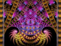 Free Movie Reel Double Spiral Flame Fractal Royalty Free Stock Image - 135577136