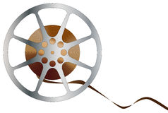 Movie Reel. A reel of movie film isolated over a white background Stock Photography