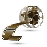 Movie reel film in vector isolated on white background. Vector Royalty Free Stock Photography