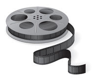 A movie reel with a strip of frames Stock Photo