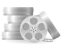 Movie reel vector illustration. Isolated on white background Stock Images