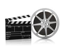 Movie Reel on White Background. For design stock photos