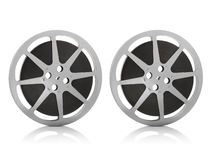 Movie Reel on White Background. For design royalty free stock photos