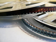 Movie reels. Two movie reels royalty free stock images