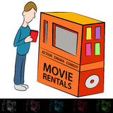 Movie Rental Machine Royalty Free Stock Image