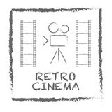 Movie retro posters and flyers set. Vintage cinema promotional p. Rinting. Can be used for ad, banner, we design. EPS 10 Stock Photography