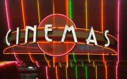movie retro sign Στοκ Φωτογραφία