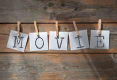 Movie review concept Stock Image