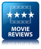 Movie reviews blue square button Royalty Free Stock Photography