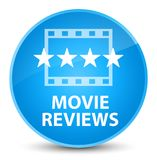 Movie reviews elegant cyan blue round button Royalty Free Stock Photos
