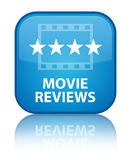 Movie reviews special cyan blue square button Royalty Free Stock Photo