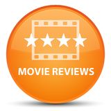 Movie reviews special orange round button Royalty Free Stock Photography