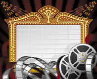 Movie schedule Royalty Free Stock Image