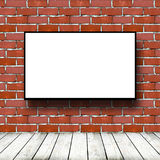 Movie screen in brick room. Big movie screen in brick room Royalty Free Stock Photo