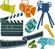 Movie set. Set of a movie objects Royalty Free Stock Images