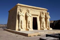 Movie set (Egyptian temple) in the Atlas Film Studios in Morocco Stock Photo