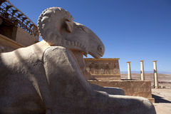 Movie set (Egyptian temple) in the Atlas Film Studios in Morocco Royalty Free Stock Images