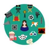 Movie set illustration Royalty Free Stock Image