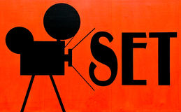Movie set sign Stock Image