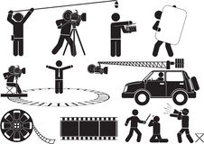 Movie shooting Stock Images