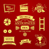 Movie signs set Royalty Free Stock Photo