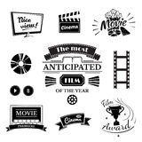 Movie signs set Stock Image