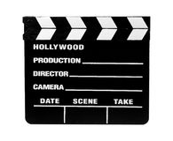 Movie Slate 2 - Clipping Path Stock Images