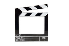 Movie Slate. Retro Hollywood chalk board movie slate with white space for your message or image Stock Images
