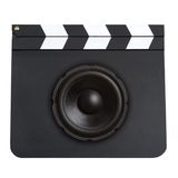 Movie soundtrack concept Royalty Free Stock Photo