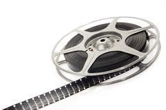Movie spool with film Royalty Free Stock Photo