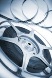 Movie spool with film Stock Photos