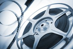 Movie spool with film Stock Image